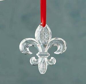 WATERFORD Fleur De Lys Crystal Ornament Christmas Bubble 12cm x 11cm LIMITED