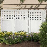 Outdoor Privacy Screen Enclosure Fence Garden Yard Divider Panel Post Patio Deck