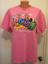 Walt Disney World  L large Mickey Goofy Donald Pluto  womens  t shirt