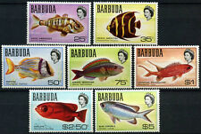 Barbuda 1968-1969 SG#21-27, 25c-$5 Fishes MNH #C173