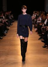 New ISABEL MARANT Adele black studded silk crepe de chine dress F38 uk 10