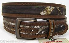 NOCONA belts men's western accessories MOSSY OAK CAMO brown leather belt 42 NWT!