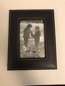 American Greetings 3-Piece Frame Set, 4 x 6 Faux Black Leather Frames