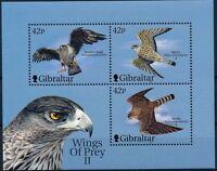 Gibraltar 2000 MNH SS, Birds of Prey, Falcons, Eagle