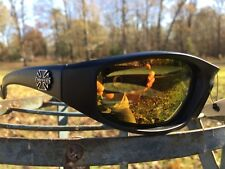 Motorcycle sunglasses Black mirror foam padding ATV glasses goggles CP92402RV