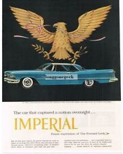 1957 Chrysler Imperial Blue 2-door Coupe American Great Seal Eagle Vintage Ad