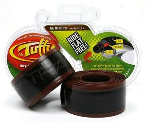 "Mr.Tuffy 26x1.95-2.5 Pair of Bike Tire (2) Liners Brown Stops Flats MTB Bike 26"""