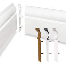 90 Degree Internal Corner Joint 100mm Ogee Torus Roomline UPVC Plastic Skirting