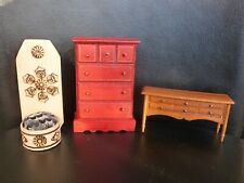 Doll Furniture 3 Pieces: Cabinet, Dresser and Chair