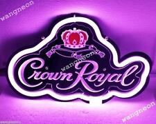 New Crown Royal Whisky Distillery Beer Bar 3D Real Neon Light Sign FAST SHIPING