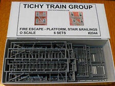 Tichy Train Group O #2044 Fire Escape; 6 sets platform & stairs