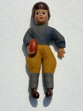Vintage Antique Celluloid Excelsior Stuffed Football Player Japan Made 1930-40's