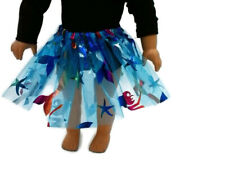 "Teal Mermaid Tutu 18"" Doll Clothes Fits American girl dolls Great for Ballet"