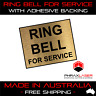 RING BELL FOR SERVICE  - GOLD SIGN - LABEL - PLAQUE w/ Adhesive 50mmx40mm