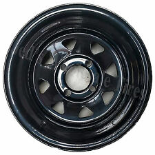 "1) 12"" 12x7 2+5 4/4 4on4 ITP Delta Steel Black D-Window DOT Golf Cart RIM WHEEL"