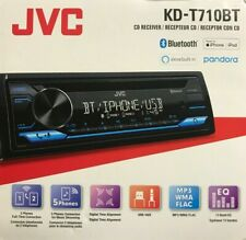 JVC - KD-T710BT - Bluetooth 1-DIN Car Stereo CD Receiver with USB Aux
