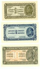 Yugoslavia … P-48a,50a … 1-20 Dinara … 1944 … Choice *UNC*. Short set 4 Notes.