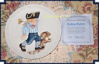 Cobblestone Kids  EXTRA EXTRA 1982 Limited Edition Collectible Plate With COA