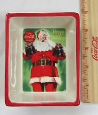 "Coca-Cola Ceramic Santa Dish - Small ""Good Taste"" - NEW"
