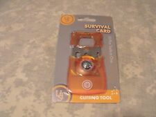 Ultimate Survival Technologies: Survival Card, Orange, 10 Tools in ONE!  UST