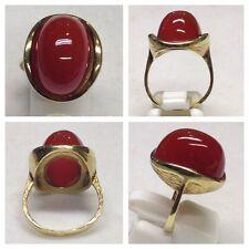 Auffälliger Goldring 585er Gold Ring mit Karneol Carneol Karneolring