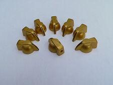 Gold Chicken Head Knobs x w black stripe for Vox & other Guitar Amplifier knob