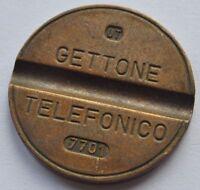 1970s Italy Street Phone Jetton Token GETTONE TELEFONICO