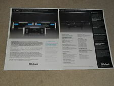 McIntosh C1000 Tube/Solid State Preamp Brochure, 2 pages, 2009, Specs, Article