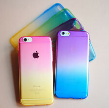 """Ultra Slim Colorful Rainbow Gradient Clear Soft TPU Case For iPhone 6S Plus 5.5"""""""