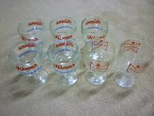 "5 Hamm's  Beer ""Sky Blue Waters"" and 2 Budwiser Glass Goblet Thumb Print  Mugs"