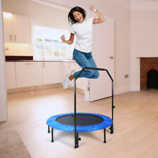 4ft MOVTOTOP Kids Bouncy Folding Trampoline Fitness Cardio Exercise Aerobic Gym