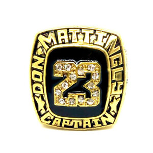 DON MATTINGLY CAPTAIN #23 MLB Championship rings
