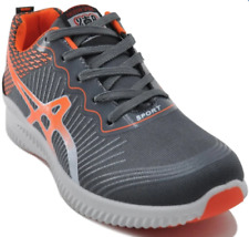 Tanggo William Fashion Sneakers Men's Rubber Shoes (grey/orange)