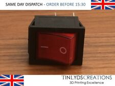KCD4 220V Switch ON/OFF -Red Light 4 Pin DPST ON/OFF Snap in Rocker Switch 28x22