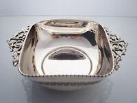 Sterling Silver bowl, handcarved, vintage handles, ancient Greek style carving