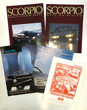 Merkur Scorpio Ford XR4Ti Germany Dealer Brochure Press Reviews