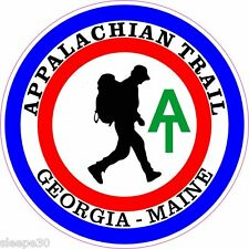 Appalachian Trail Hiker Vinyl Sticker Decal Round 4 inch  **FREE SHIPPING**