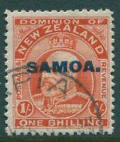 Samoa 1914 SG121 1/- vermilion KEVII SAMOA. ovpt FU
