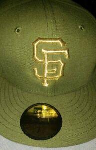 San Francisco SF Giants hat 3d New Era cap 59fifty Multiple Green w GOLD SF