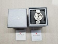 MICHELE CAPE MULTI-FUNCTION WHITE SILICONE STRAP LADIES WATCH MWW27C000001 NEW