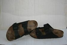 Birkenstock Men's Arizona Leather Double Strap Slide Sandals Black m 14 47 305