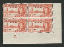 Northern Rhodesia 1946 Victory 1½d with Printing flaw R 9/6 SG 46 Mnh.