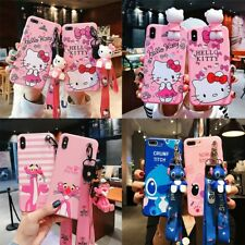 New hello kitty silicone rose doll Stitch leopard for iphone 11 11pro 11pro max