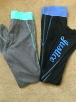 Girls JUSTICE Leggings - Blue/Black and Turquoise/Grey SIZE 16
