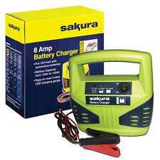 8 amp 12 volt 12v battery charger upto 2.5L engine  car van bike boat motorhome