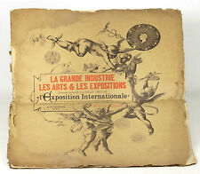 7614 - LA GRANDE INDUSTRIE MAGAZINE LES ARTS LES EXPOSITIONS. EB GRENIER. 1886.