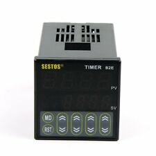 Sestos Digital Twin Timer Relay Time Delay Relay Switch 12-24V B2E count second