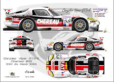 "[FFSMC Productions] Decals 1/18 Chrysler-Dodge Viper ""Cherreau"" #58 Le Mans 2001"