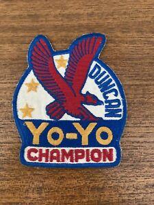 Vintage 1960s Duncan Yo-Yo Champion Embroidered Giant Blue Eagle Patch