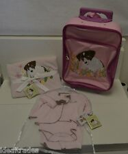 ALLY & BAILEY BABY GIRL PINK LAYETTE CLOTHING BLANKET LUGGAGE SET ** SHOWER GIFT